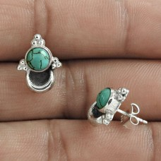 Fashion 925 Sterling Silver Turquoise Gemstone Stud Earring Antique Jewelry