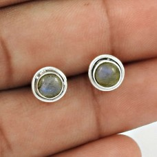 Labradorite Gemstone Earring 925 Sterling Silver Traditional Jewelry ER51