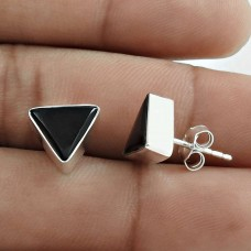 Trendy 925 Sterling Silver Black Onyx Gemstone Earring Handmade Jewelry A35