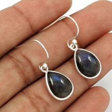 Labradorite Gemstone Earring 925 Sterling Silver Traditional Jewelry ER2