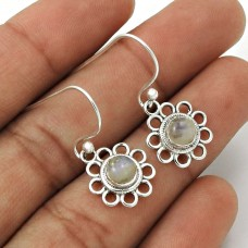 Rainbow Moonstone Earring 925 Sterling Silver Ethnic Jewelry ER17