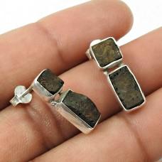 Rock Lava Gemstone Earring 925 Sterling Silver Ethnic Jewelry E4