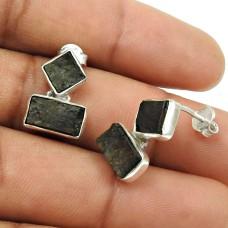 Rock Lava Gemstone Earring 925 Sterling Silver Stylish Jewelry G4