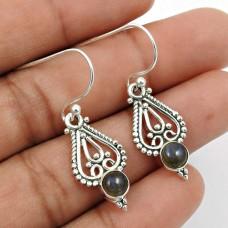 Labradorite Gemstone Earring 925 Sterling Silver Handmade Jewelry Q2