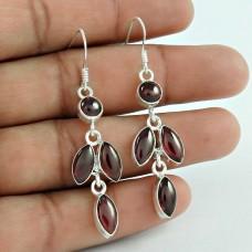 Precious! 925 Sterling Silver Garnet Earrings Lieferant