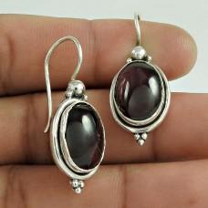 925 Sterling Silver Gemstone Jewelry Fashion Garnet Gemstone Earrings De gros