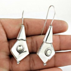 Sterling Silver Jewelry High Polish Crystal Gemstone Earrings