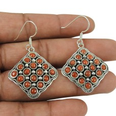Delicate Light! 925 Sterling Silver Coral Earrings Wholesale