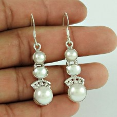 Spell! 925 Sterling Silver Pearl Earrings Wholesaler