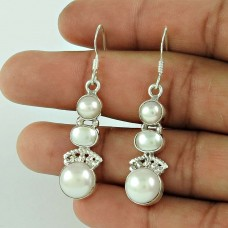 925 Silver Jewelry Traditional Pearl Earrings Exporter