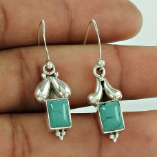 925 Sterling Silver Fashion Jewelry Charming Turquoise Gemstone Earrings