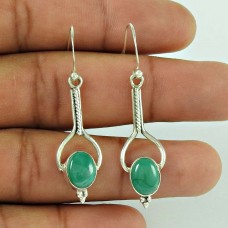 925 Sterling Silver Jewelry Charming Turquoise Gemstone Earrings