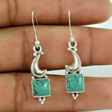 925 Sterling Silver Jewelry Ethnic Turquoise Gemstone Earrings Wholesaler