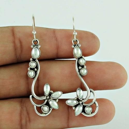 Sterling Silver Jewelry Beautiful Pearl Earrings