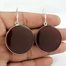 Sterling Silver Jewellery High Polish Carnelian Gemstone Earrings