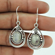 Unique Style 925 Sterling Silver Rainbow Moonstone Earring Antique Jewellery Wholesale Price