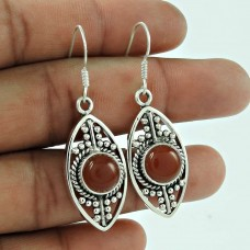 Designer 925 Sterling Silver Carnelian Gemstone Earring Traditional Jewellery Grossiste