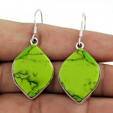 My Sweet! 925 Silver Mahogany Turquoise Earrings
