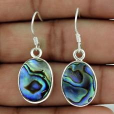 Sterling Silver Fashion Jewelry Fashion Abalone Shell Gemstone Earrings