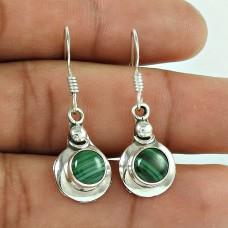 Scrumptious 925 Sterling Silver Malachite Gemstone Earring Jewellery Wholesaling