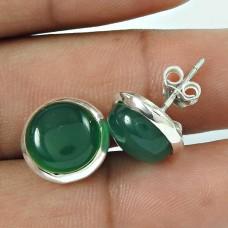True Love !! 925 Sterling Silver Green Onyx Gemstone Earring Jewellery