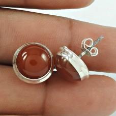 Beautiful 925 Sterling Silver Carnelian Gemstone Earring Jewellery