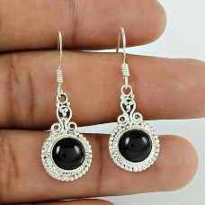 Rare 925 Sterling Silver Black Onyx Gemstone Earring Ethnic Jewellery Lieferant