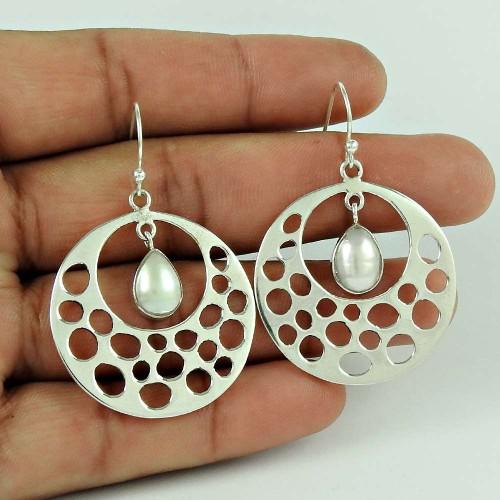 925 Silver Jewelry Fashion Pearl Earrings