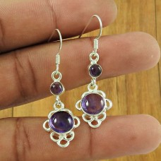 925 Sterling Silver Jewelry Rare Amethyst Gemstone Earrings