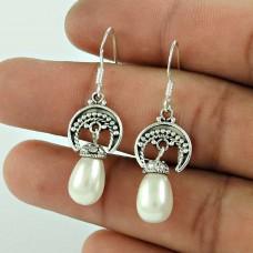 Daily Wear 925 Sterling Silver Pearl Earring Jewellery