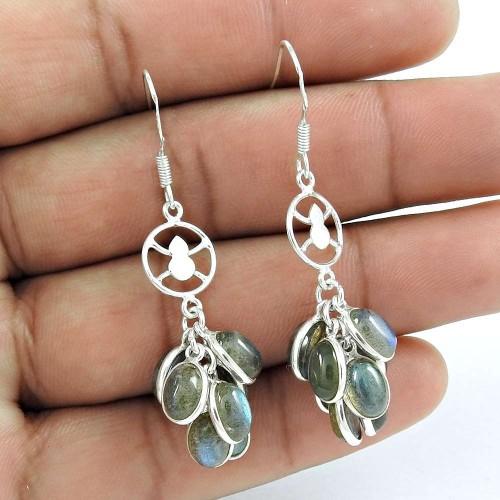 Spell 925 Sterling Silver Labradorite Earrings Proveedor