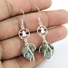 Misty Morning 925 Sterling Silver Labradorite Earrings Fabricante