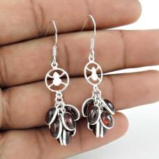 Engaging Garnet Gemstone Sterling Silver Earrings 925 Sterling Silver Jewellery