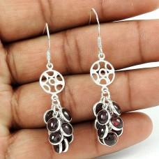 Beautiful Garnet Gemstone Sterling Silver Earrings 925 Silver Jewellery