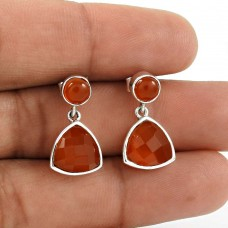 Natural CARNELIAN Earring 925 Solid Sterling Silver HANDMADE Jewelry BC4