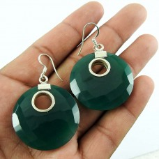 925 gemstone silver Jewellery Charming Green Onyx Earrings Wholesale Price