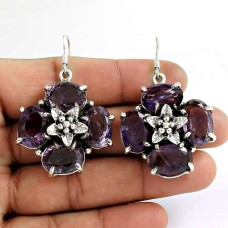 Kiss!! 925 Sterling Silver Amethyst Earrings Hersteller
