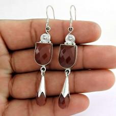 So In Love!! 925 Sterling Silver Carnelian Earrings Manufacturer