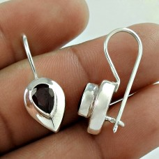 Misty Morning!! 925 Sterling Silver Garnet Earrings Fournisseur