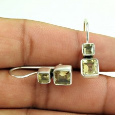 Fantastic Quality Of!! 925 Sterling Silver Citrine Earrings Wholesale