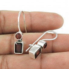 Exclusive!! 925 Sterling Silver Garnet Earrings Wholesaling