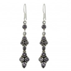 New Design! 925 Sterling Silver Amethyst Earrings Fournisseur