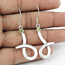 925 Silver Jewellery Beautiful Peridot Gemstone Sterling Silver Earrings