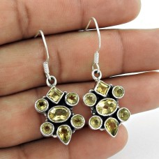 Sterling Silver Fashion Jewellery Rare Citrine Gemstone Earrings