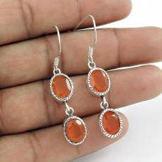 Maya Freedom! 925 Sterling Silver Carnelian Earrings Supplier India