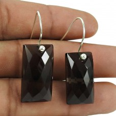 Rattling Sterling Silver Smoky Quartz Gemstone Earrings 925 Jewellery
