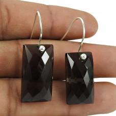 Rattling Sterling Silver Smoky Quartz Gemstone Earrings 925 Jewellery