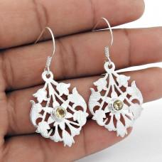 So In Love! 925 Sterling Silver Citrine Earrings Wholesale Price