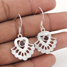 Best Quality! 925 Sterling Silver Garnet Earrings Wholesale