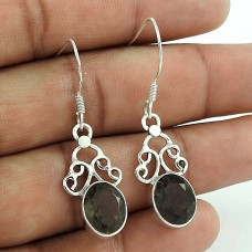 Created! 925 Sterling Silver Smoky Quartz Earrings Fabricant